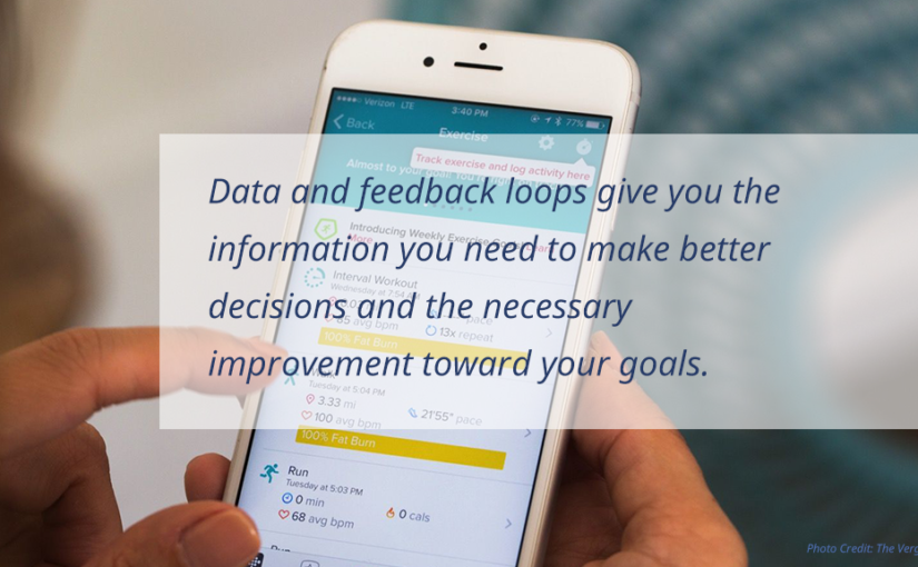 Data and feedback loops give you the information you need to make better decisions and the necessary improvement toward your goals.